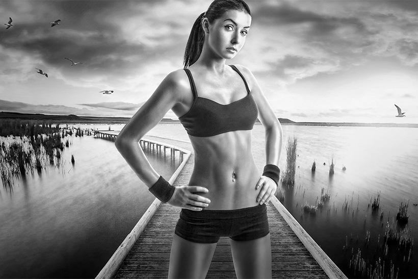 philwiener Werbeagentur Fotograf Sport Läuferin schwarzweiß